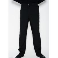 Черные прямые брюки со стрелками