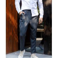 Серые клетчатые брюки на резинке