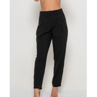 Черные брюки-дудочки с высокой посадкой