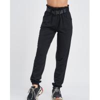 Черные трикотажные брюки с высокой посадкой