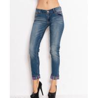 Синие потертые джинсы скинни