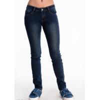 Синие утепленные джинсы скинни с низкой посадкой
