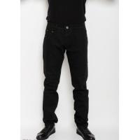 Черные однотонные зауженные к низу джинсы