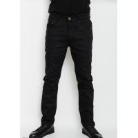 Черные однотонные прямые джинсы