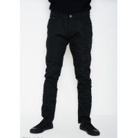 Черные тонкие однотонные джинсы прямого кроя