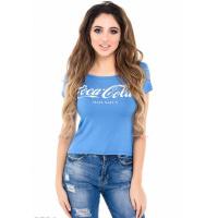 Cиняя футболка с надписью Coca-Cola