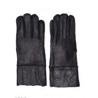 Черные грубые кожаные рукавицы