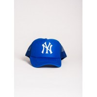 Ярко-синяя бейсболка с принтом NY спереди