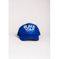 Ярко-синяя кепка с принтом