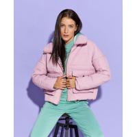 Розовая демисезонная короткая куртка на молнии
