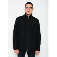 Черная тонкая куртка на молнии с велюровым декором