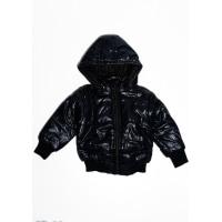 Черная теплая стеганая куртка на синтепоне с капюшоном и манжетами