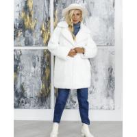 Белое шерстяное свободное пальто