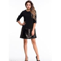 Черное платье для вечеринки с блестящими элементами
