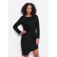 Черное асимметричное платье с запахом