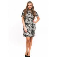 Черно-белое платье с абстрактными узорами