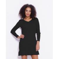 Черное однотонное фактурное платье с воланами