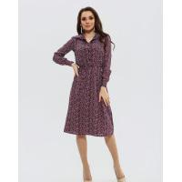 Цветочное платье-рубашка с длинными рукавами