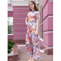 Платье в пол в цветочно-леопардовый принт