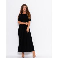 Черное классическое платье из фактурного трикотажа