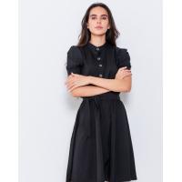 Черное офисное платье с короткими рукавами
