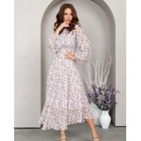 Шифоновое платье классического кроя