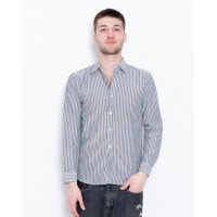Черно-белая полосатая рубашка из коттона