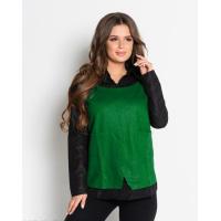 Черно-зеленая рубашка с длинными рукавами