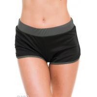 Черно-серые эластичные спортивные шорты