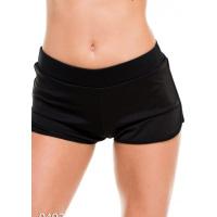 Черные спортивные шорты из эластика