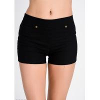 Черные короткие шорты из хлопка-стрейч под джинс