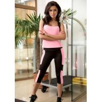 Черно-розовый спортивный костюм для фитнеса