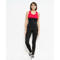 Черно-красный майечный спортивный костюм