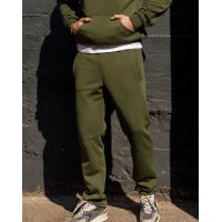 Утепленные штаны цвета хаки прямого кроя
