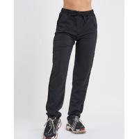 Черные трикотажные штаны с велюровыми лампасами