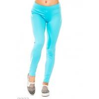 Голубые спортивные штаны из эластика с белыми элементами