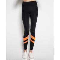 Черные спортивные штаны с оранжевыми полосками