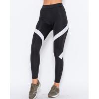 Черные спортивные штаны с белыми вставками