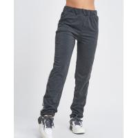 Темно-серые трикотажные штаны с фактурными лампасами