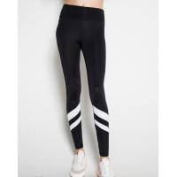 Черные спортивные штаны с белыми полосками