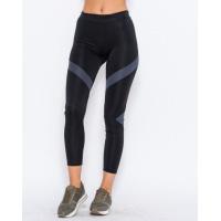 Черные спортивные штаны с серыми вставками