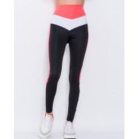 Черно-розовые эластичные спортивные штаны