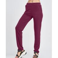 Бордовые трикотажные штаны с карманами