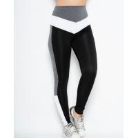 Черные эластичные спортивные штаны со вставками