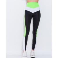 Черно-салатовые эластичные спортивные штаны