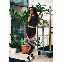 Облегающие спортивные штаны с розовой отделкой