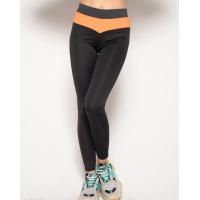 Черные спортивные штаны с серой и оранжевой вставками
