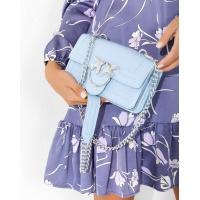 Голубая маленькая каркасная сумка