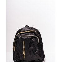 Черный практичный маленький рюкзак с карманами