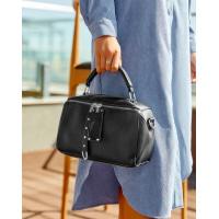 Черная маленькая сумка из эко-кожи